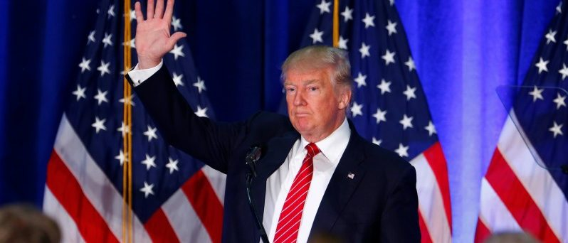 Republican U.S. presidential nominee Donald Trump speaks at Youngstown State University in Youngstown, Ohio