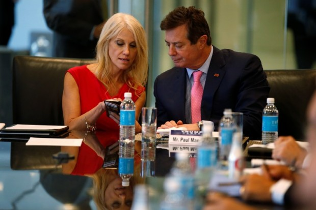 Kellyanne Conway and Paul Manafort (Getty Images)