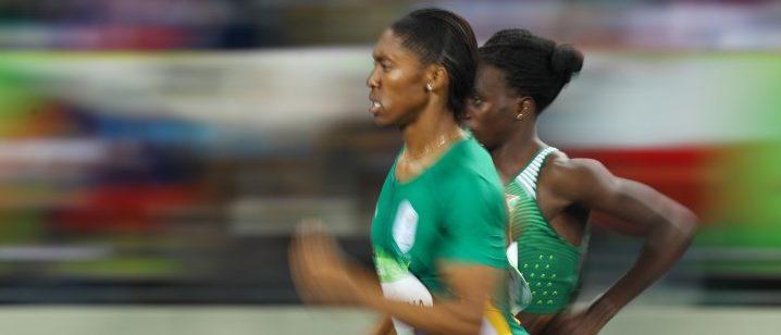 2016 Rio Olympics - Athletics - Final - Women's 800m Final - Olympic Stadium - Rio de Janeiro, Brazil - 20/08/2016. Caster Semenya (RSA) of South Africa competes. REUTERS/Kai Pfaffenbach