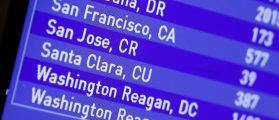 A flight board at Fort Lauderdale International Airport shows Jet Blue Flight 387 from Fort Lauderdale International Airport, for Santa Clara, Cuba, the first commercial flight between the U.S. and Cuba in decades, in Fort Lauderdale, Florida, August 31, 2016. REUTERS/Joe Skipper