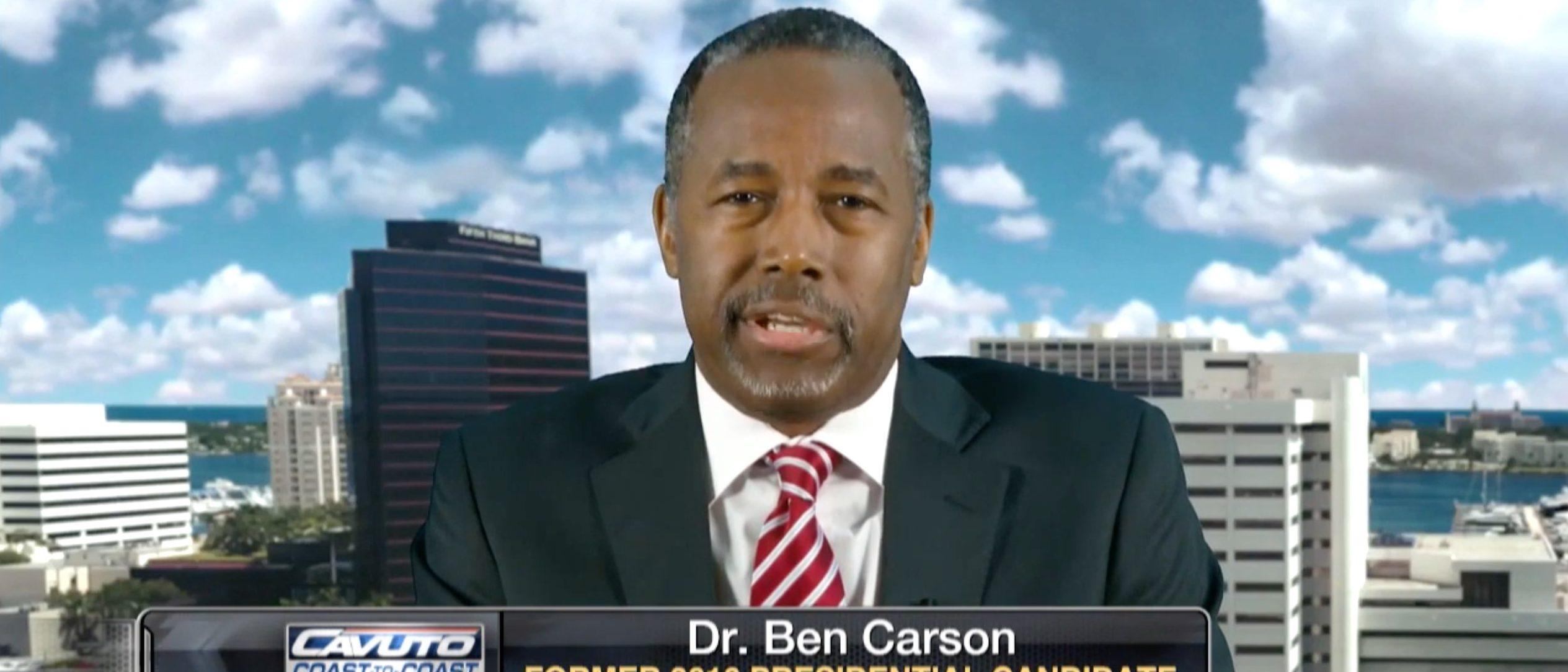 Ben Carson, Screen Grab FBN, 8-3-2016