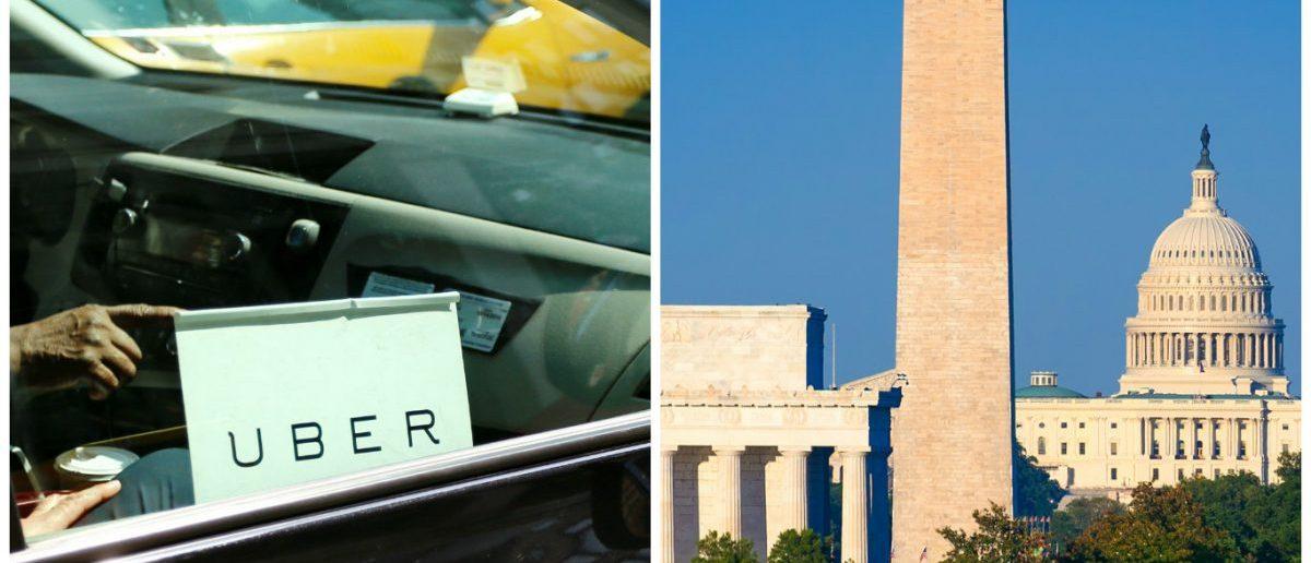 Capitol, Washington Monument Lincoln Memorial: Holbox/shutterstock.com, Uber: MikeDotta/shutterstock.com