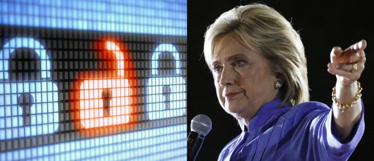 Computer Lock: Pavel Ignatov/Shutterstock.com, Hillary Clinton: Joseph Sohm/Shutterstock.com