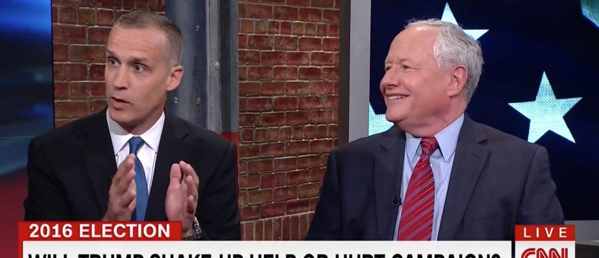 Corey Lewandowski, Bill Kristol, Screen Grab CNN, 8-18-2016