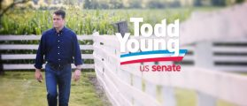 Toddy Young appears in the campaigns latest ad youtube screengrab