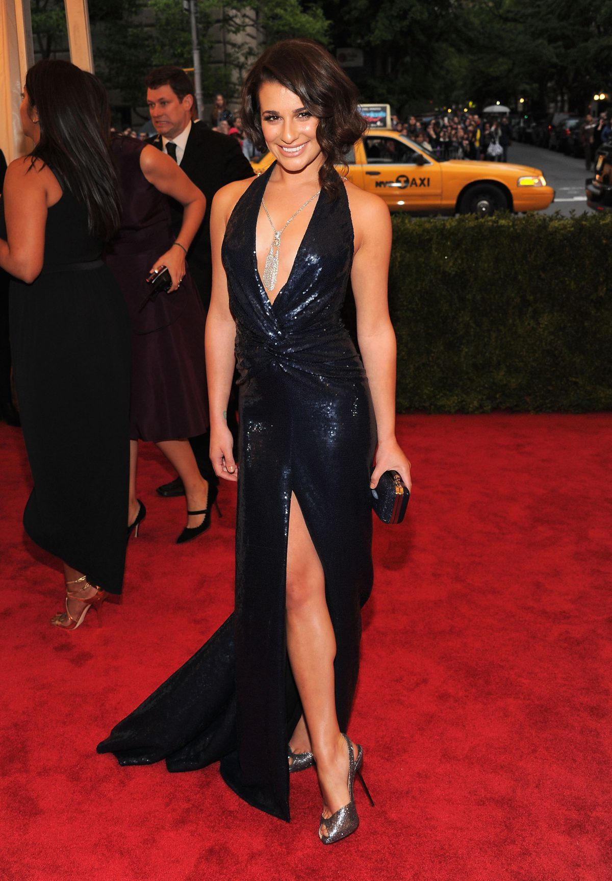 """Lea Michele attends the """"Schiaparelli And Prada: Impossible Conversations"""" Costume Institute Gala at the Metropolitan Museum of Art on May 7, 2012 in New York City. (Photo by Larry Busacca/Getty Images)"""