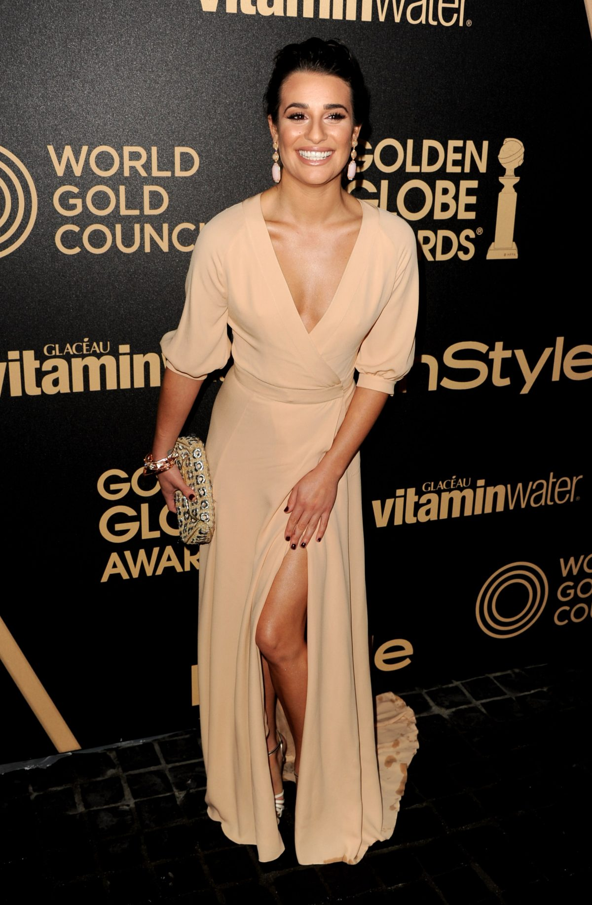 Lea Michele arrives at the Hollywood Foreign Press Association's and In Style's celebration of the 2013 Golden Globes Awards Season at Cecconi's on November 29, 2012 in West Hollywood, California. (Photo by Kevin Winter/Getty Images)