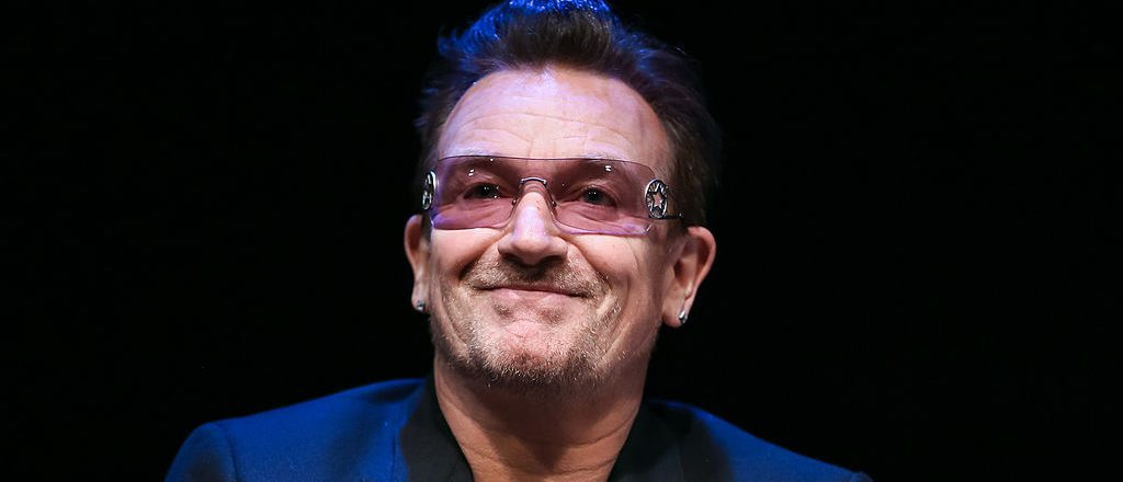 PALM SPRINGS, CA - JANUARY 05:  Musician Bono attends the 25th annual Palm Springs Film Festival - Talking Pictures on January 5, 2014 in Palm Springs, California.  (Photo by Chelsea Lauren/Getty Images for PSFF)