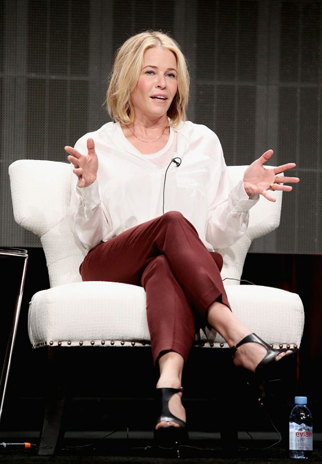 Comedian Chelsea Handler speaks onstage during the 'Chelsea Does' panel discussion at the Netflix portion of the 2015 Summer TCA Tour at The Beverly Hilton Hotel on July 28, 2015 in Beverly Hills, California