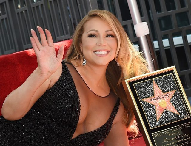Mariah Carey is honored with the 2,556th star on The Hollywood Walk of Fame in Hollywood, California. (Photo credit: Mark Ralston/AFP/Getty Images)
