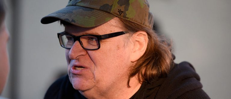 EAST HAMPTON, NY - OCTOBER 10:  Documentary Filmmaker Michael Moore attends 'Where To Invade Next ' photo call during  Day 3 of the 23rd Annual Hamptons International Film Festival on October 10, 2015 in East Hampton, New York.  (Photo by Matthew Eisman/Getty Images for Hamptons International Film Festival)