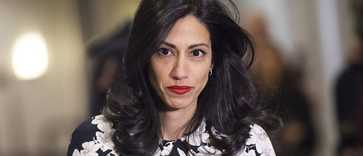 Huma Abedin, longtime aide to former US Secretary of State and Democratic presidential hopeful Hillary Clinton, returns after a break to speak to the House Select Committee on Benghazi on Capitol Hill in Washington, DC, October 16, 2015. Abedin is testifying behind closed doors Friday before a controversial congressional committee probing a deadly 2012 attack on a US mission in Libya, the panel said.   AFP PHOTO / SAUL LOEB        (Photo credit should read SAUL LOEB/AFP/Getty Images)
