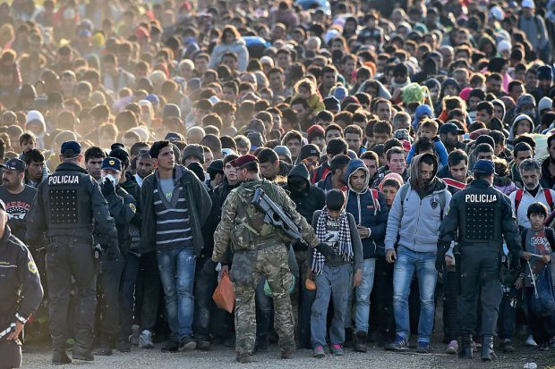 Getty photo of refugees