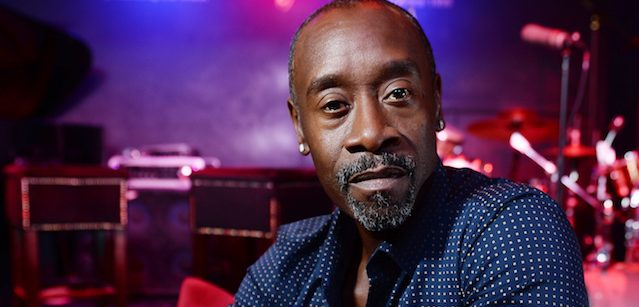 Don Cheadle, who directs and stars as Miles Davis in the forthcoming film Miles Ahead at Ronnie Scott's Jazz Club on April 5, 2016 in London. (Photo by Jeff Spicer/Getty Images for Icon Film Distribution)