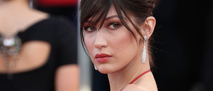 """CANNES, FRANCE - MAY 18: Model Bella Hadid attends """"The Unknown Girl (La Fille Inconnue)"""" Premiere duirng the annual 69th Cannes Film Festival at Palais des Festivals on May 18, 2016 in Cannes, France. (Photo by Andreas Rentz/Getty Images)"""