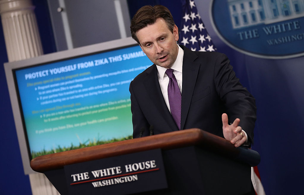White House Press Secretary Josh Earnest briefs members of the media at the White House on June 20, 2016 (Getty Images)