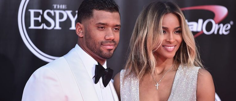 Football player Russell Wilson and recording artist Ciara attend the 2016 ESPYS at Microsoft Theater on July 13, 2016 in Los Angeles