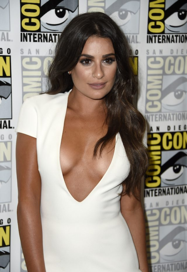 "Lea Michele attends the ""Scream Queens"" press line during Comic-Con International at Hilton Bayfront on July 22, 2016 in San Diego. (Photo by Frazer Harrison/Getty Images)"