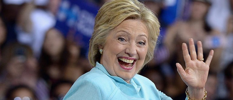 Democratic presidential candidate former Secretary of State Hillary Clinton attends a campaign rally at Florida International University Panther Arena on July 23, 2016 in Miami