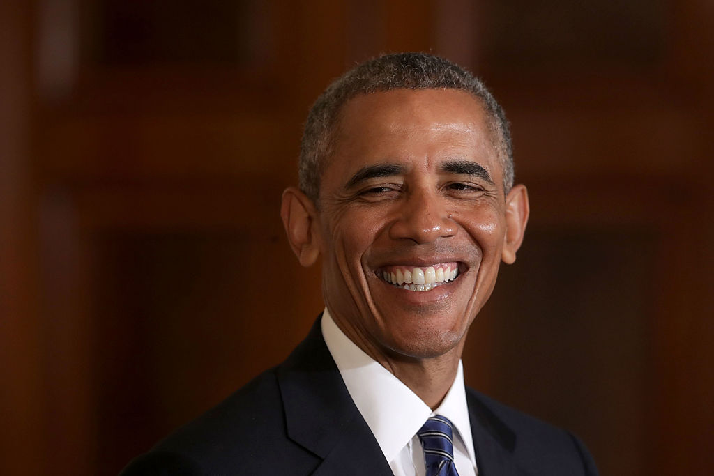 Barack Obama smiles during a joint news conference with Singapore's Prime Minister Lee Hsien Loong (Getty Images)