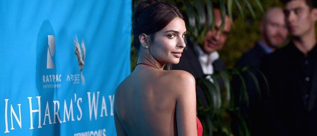 Model Emily Ratajkowski attends the special event for UN Secretary-General Ban Ki-moon hosted by Brett Ratner and David Raymond at Hilhaven Lodge on August 10, 2016 in Los Angeles. (Photo by Alberto E. Rodriguez/Getty Images for Arise Pictures)