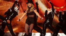 Britney following Madonna's fashion sense. (Photo by Andreas Rentz/Getty Images)
