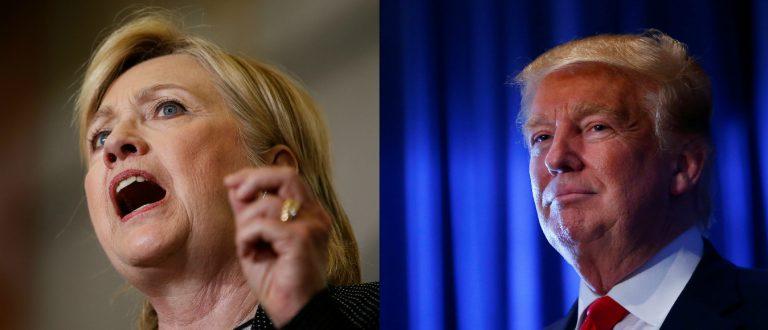 Hillary Clinton, Donald Trump, Images via Reuters