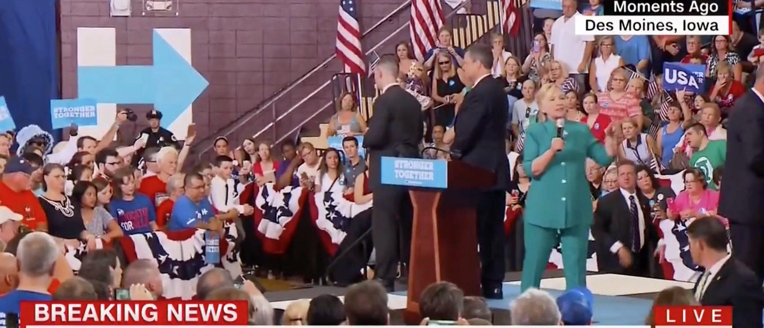 Hillary Clinton, Screen Grab CNN, 8-10-2016