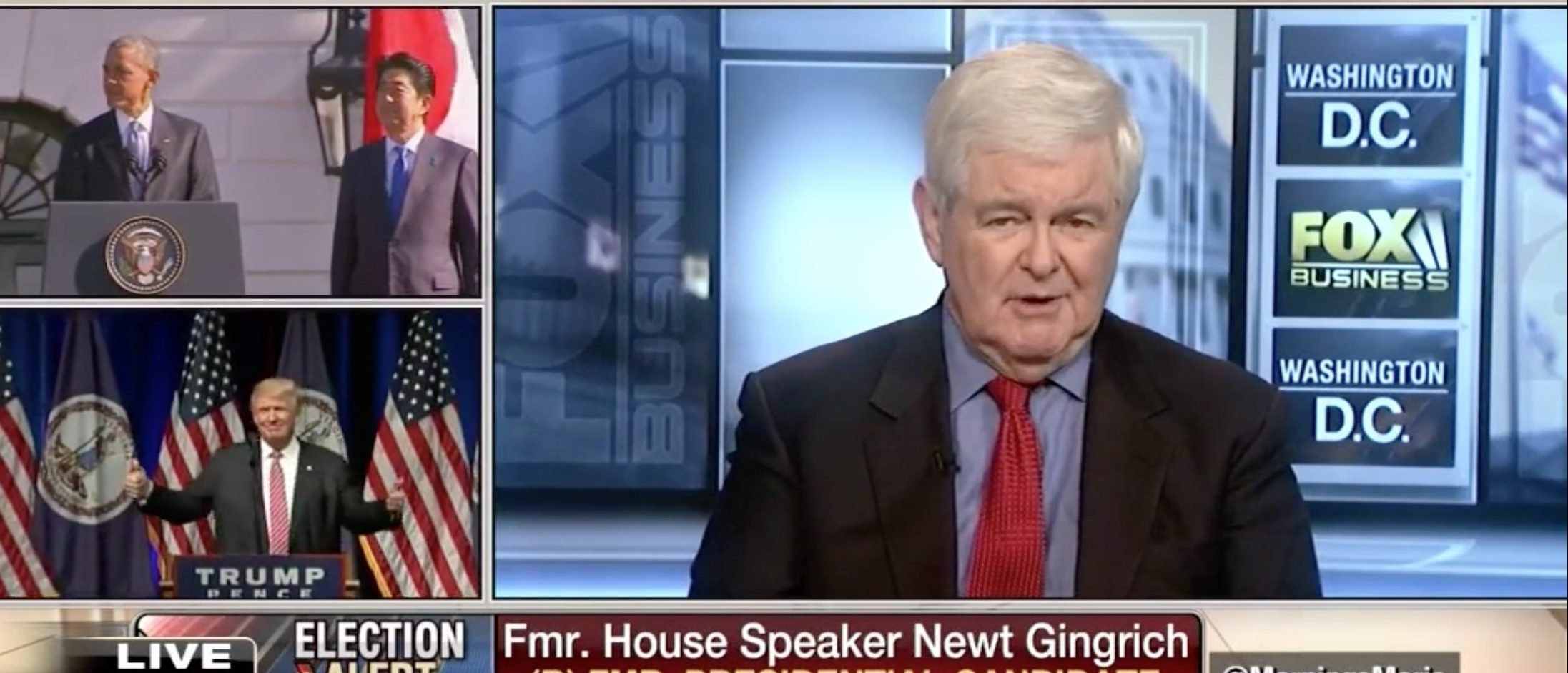 Newt Gingrich, Screen Grab FBN, 8-3-2016