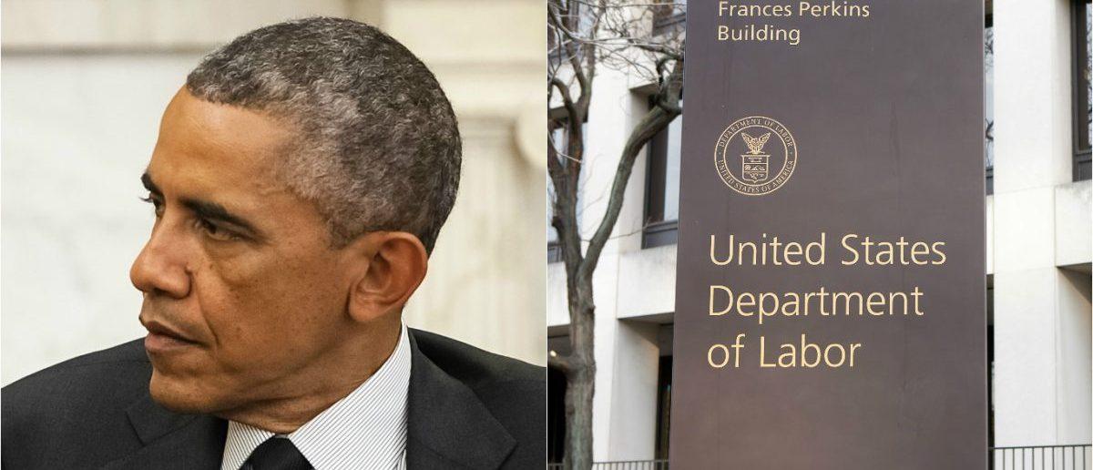 Obama: Drop of Light/shutterstock.com, Dept. of Labor: Mark Van Scyoc/shutterstock.com