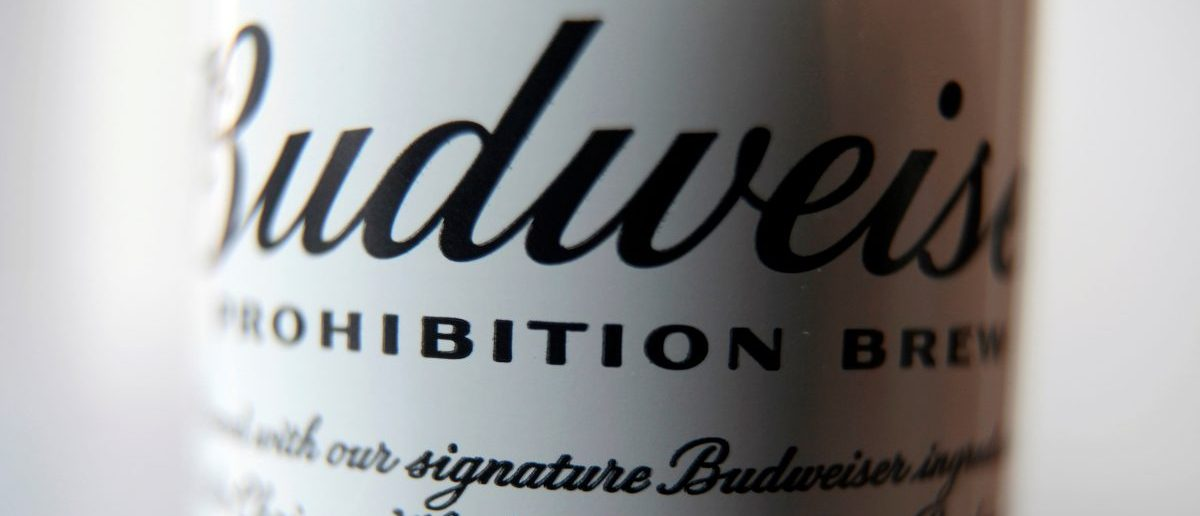 A can of Budweiser Prohibition Brew