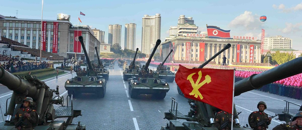 North Korean military participate in the celebration of the 70th anniversary of the founding of the ruling Workers' Party of Korea, in this undated photo released by North Korea's Korean Central News Agency (KCNA) in Pyongyang on October 12, 2015. REUTERS/KCNA/File Photo