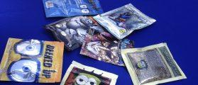 Packets of synthetic marijuana illegally