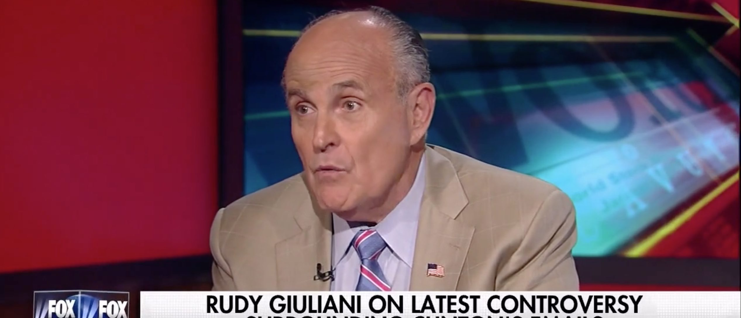 Rudy Giuliani, Screen Grab Fox News, 8-10-2016