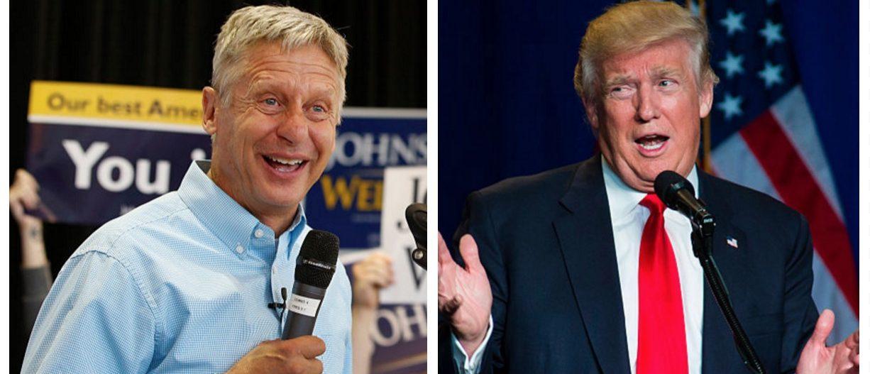 Gary Johnson, Donald Trump (Getty Images)