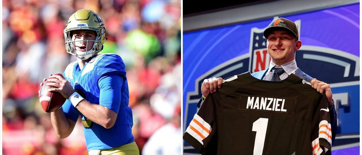 Josh Rosen, Johnny Manziel (Credit: Getty Images)