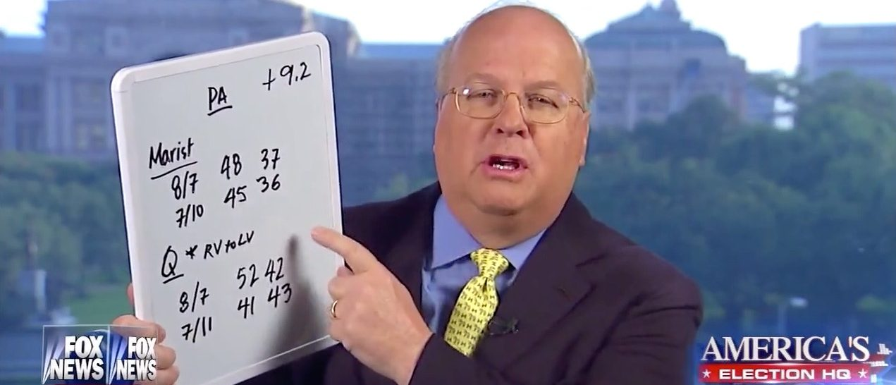 Karl Rove explains a 'change in methodology' (Fox News)