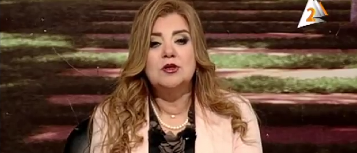 Egyptian news anchor Khadija Khattab has been suspended until she loses weight. (screenshot from YouTube)