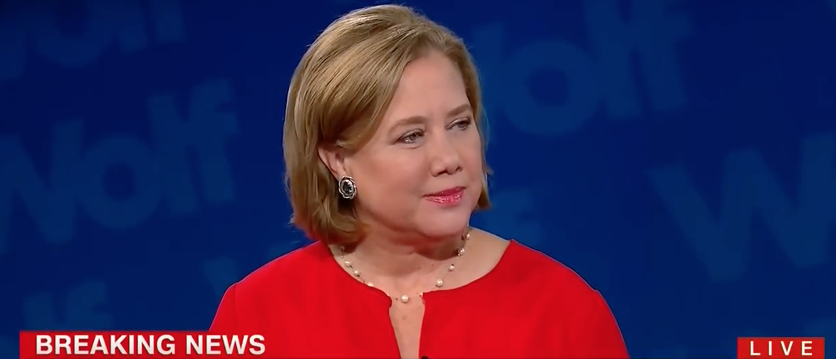 Former Louisiana Sen. Mary Landrieu thanks Donald Trump for visiting her state during flooding there. Aug. 19, 2016. (Youtube screen grab)