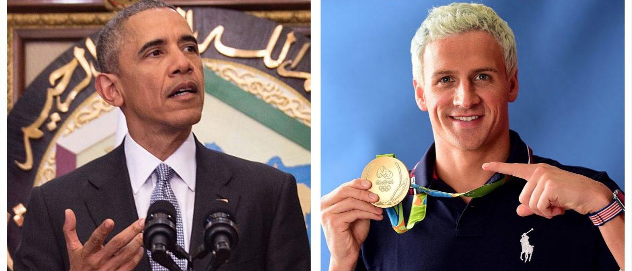 Barack Obama, Ryan Lochte (Barack Obama, Ryan Lochte (Getty Images)