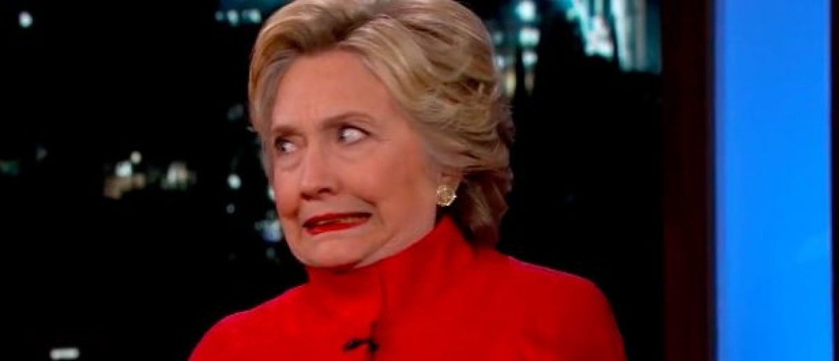 Hillary Clinton making a face. (Photo: YouTube screen grab)