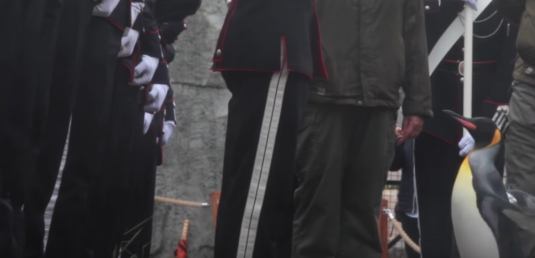 Sir Nils Olav inspects his guards (Screengrab/Youtube)