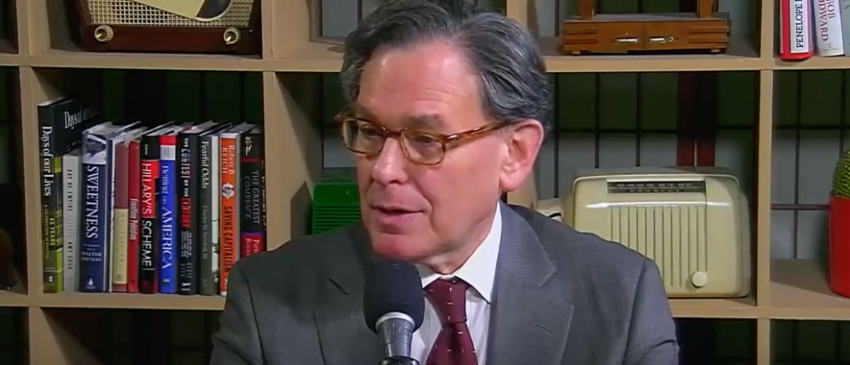 """Sidney Blumenthal interviewed on """"Beyond the Beltway with Bruce DeMont"""" (Youtube screen grab)"""