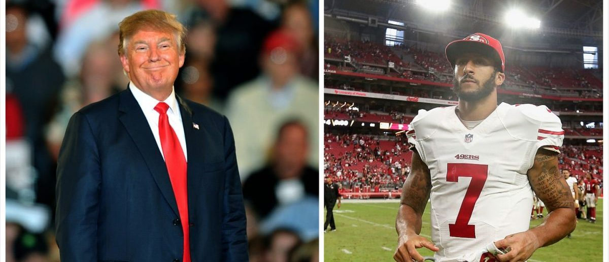 Trump, Kaepernick (Credit: Getty Images)
