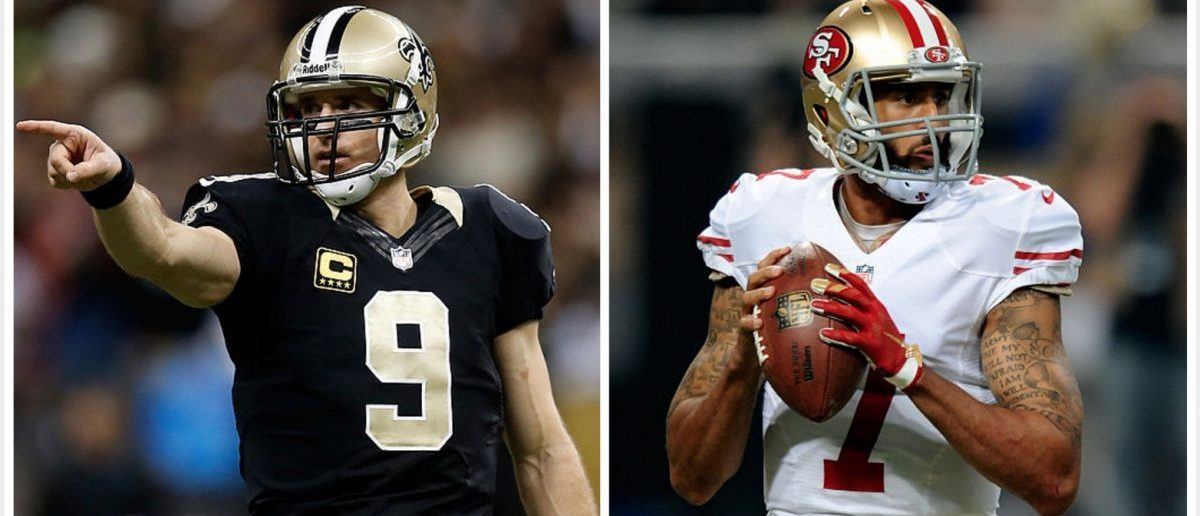 Drew Brees, Kaepernick (Credit: Getty Images)