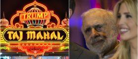 Taj Mahal Casino: Sean Pavone/shutterstock.com, Carl Icahn: lev radin/shutterstock.com