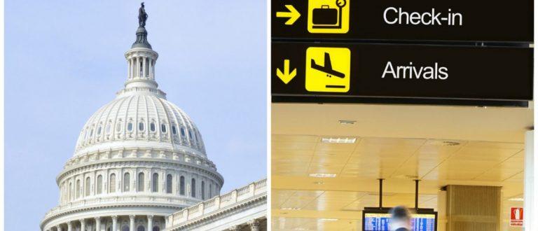 US Capitol: Michal Jablonski/shutterstock.com Airport: Rob Wilson/shutterstock.com
