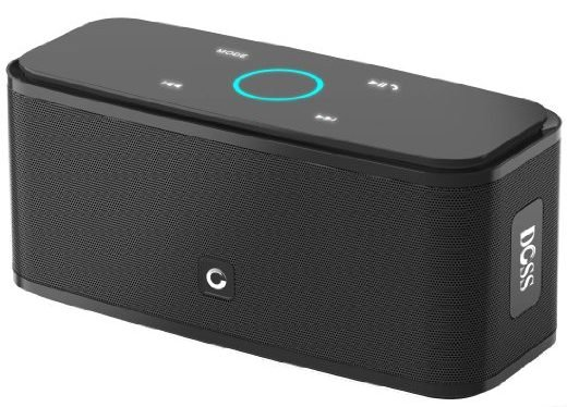 The DOSS Touch portable speaker comes in black, blue and white (Photo via Amazon)