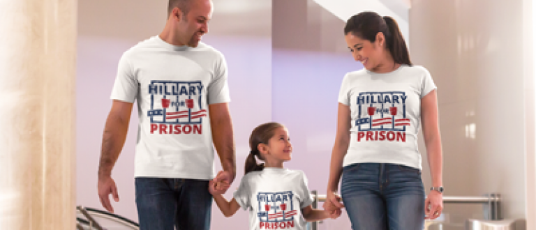 You can fight the liberal media if you get shirts like this family (Placeit)