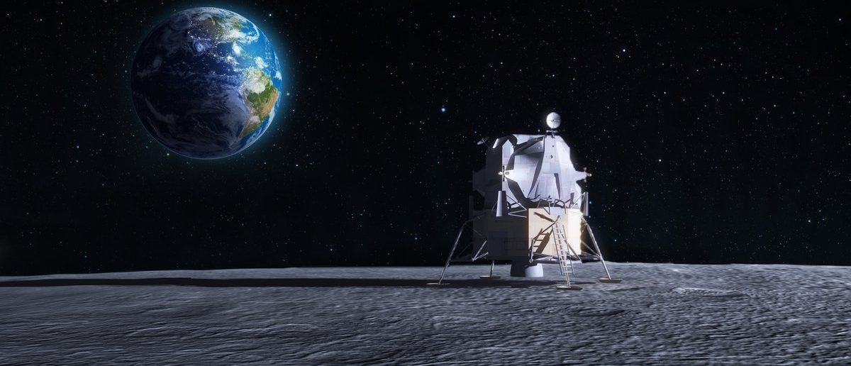 Lunar lander - CG render of the original Apollo mission space craft (Shutterstock/Mopic)